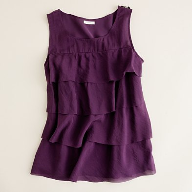 silk tiered cami